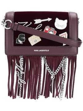 Karl Lagerfeld Klassik pins cross body bag - Red