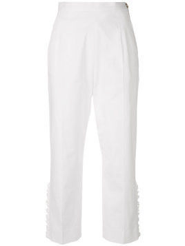 I'M Isola Marras cropped ruffle trousers - White