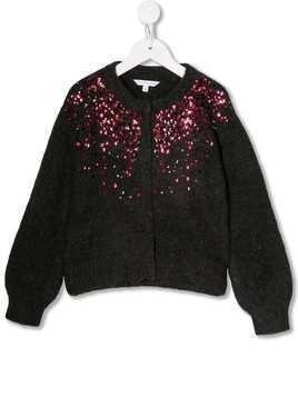 Little Marc Jacobs sequin knitted cardigan - Grey
