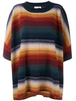 Chloé striped oversized jumper - Multicolour