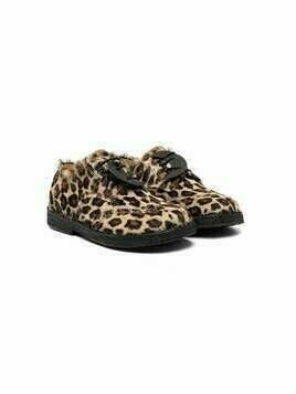ZECCHINO D'ORO KIDS leopard-print lace-up shoes - Brown