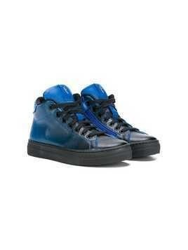 Cesare Paciotti 4Us Kids faded high top sneakers - Blue