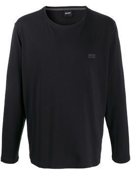 BOSS embroidered logo T-shirt - Black
