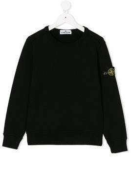 Stone Island Junior round neck sweatshirt - Black
