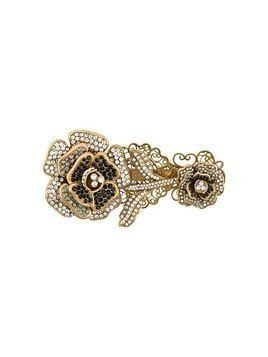Dolce & Gabbana encrusted English rose brooch - GOLD