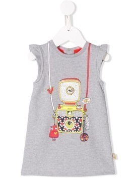 Little Marc Jacobs camera print jersey dress - Grey