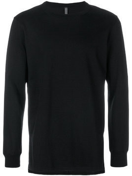 Attachment round neck sweatshirt - Black