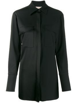 Blanca panelled chest pocket shirt - Black