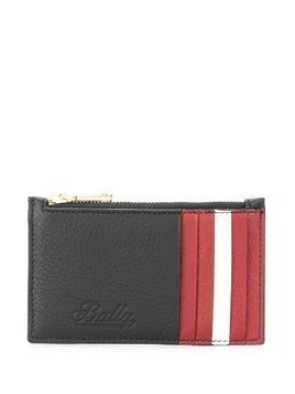 Bally striped detail wallet - Black