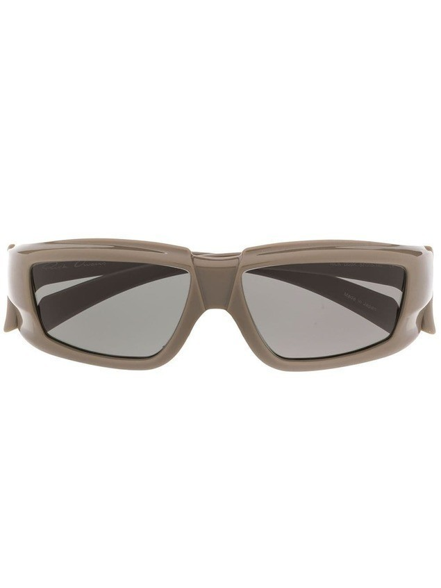 Rick Owens square tinted sunglasses - NEUTRALS