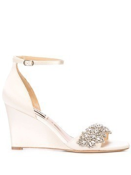 Badgley Mischka embellished Lauren sandals - White