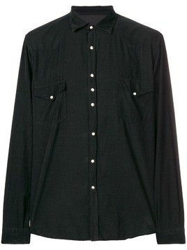 Costumein long-sleeve fitted shirt - Black