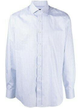 Hackett check-print buttoned shirt - White