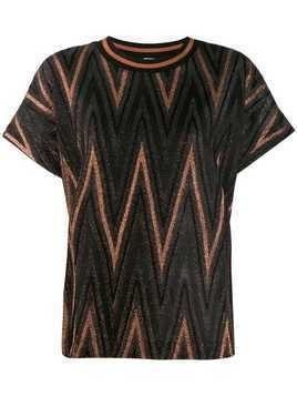 M Missoni Zigzag glitter top - Black