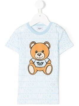 Moschino Kids toy bear T-shirt - Blue