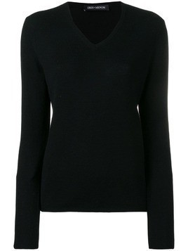 Iris Von Arnim knitted v-neck jumper - Black