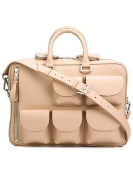 Valas multi-pockets briefcase - Neutrals