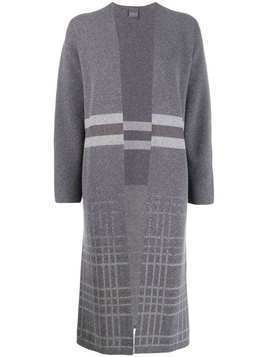 Lorena Antoniazzi knitted long cardigan - Grey