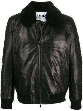 Drome shearling aviator jacket - Black