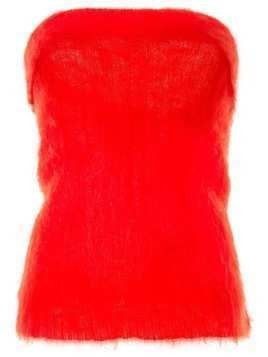 Gianluca Capannolo fine knit bustier top - Red