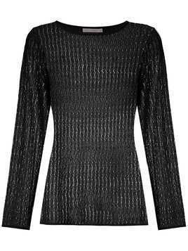 Cecilia Prado wave pattern knitted top - Black