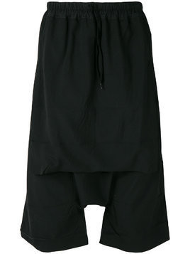 Bernhard Willhelm drop crotch shorts - Black