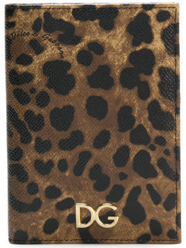 Dolce & Gabbana leopard print passport holder - Multicolour