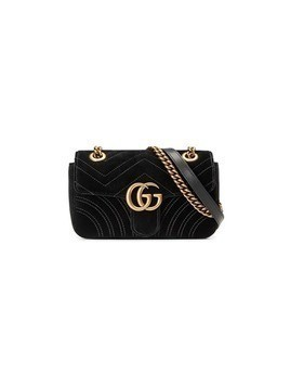 Gucci GG Marmont velvet mini bag - Black