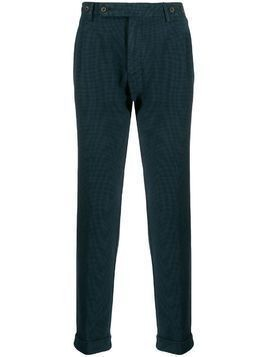 Berwich check-print tapered trousers - Blue