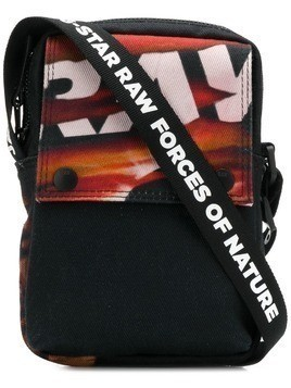 G-Star Raw Research printed messenger bag - Black