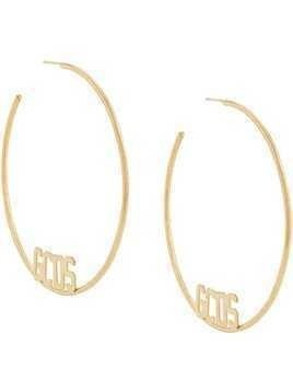 Gcds oversized single hoop earring - GOLD