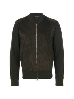 Tom Ford zipped bomber jacket - Green