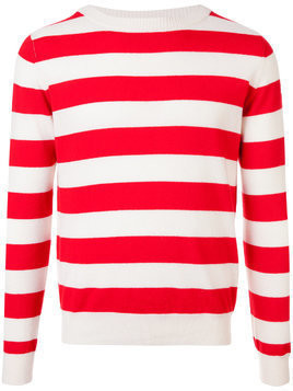Holiday striped crew neck sweater - Red