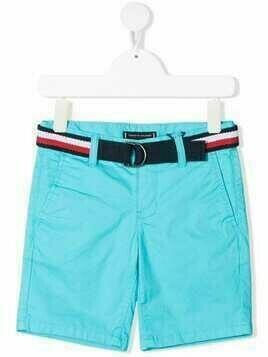 Tommy Hilfiger Junior belted chino shorts - Blue