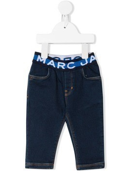 Little Marc Jacobs logo band jeans - Blue