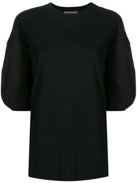 Alberta Ferretti short sleeved sweatshirt - Black