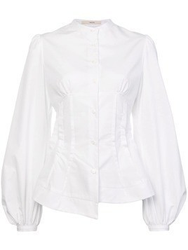 Aganovich balloon sleeves shirt - White
