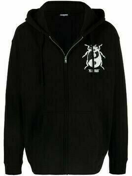 Pleasures Bug motif zip-up hoodie - Black