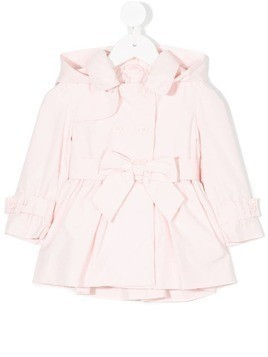 Lapin House hooded trenchcoat - Pink & Purple