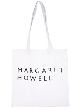 Margaret Howell logo shopper tote - White