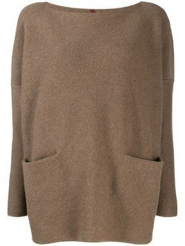 Daniela Gregis boat neck jumper - Brown