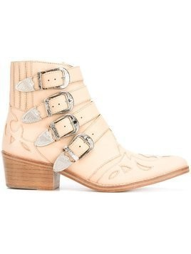 Toga Pulla buckled cowboy boots - Nude & Neutrals