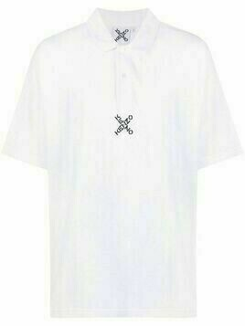 Kenzo Blocked K oversized polo shirt - White