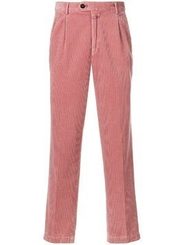 Closed corduroy fitted trousers - Pink