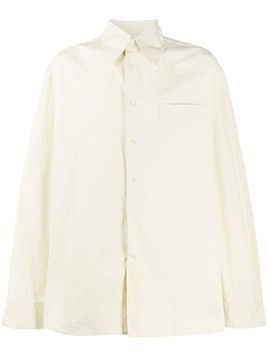 Marni plain cotton shirt - Neutrals