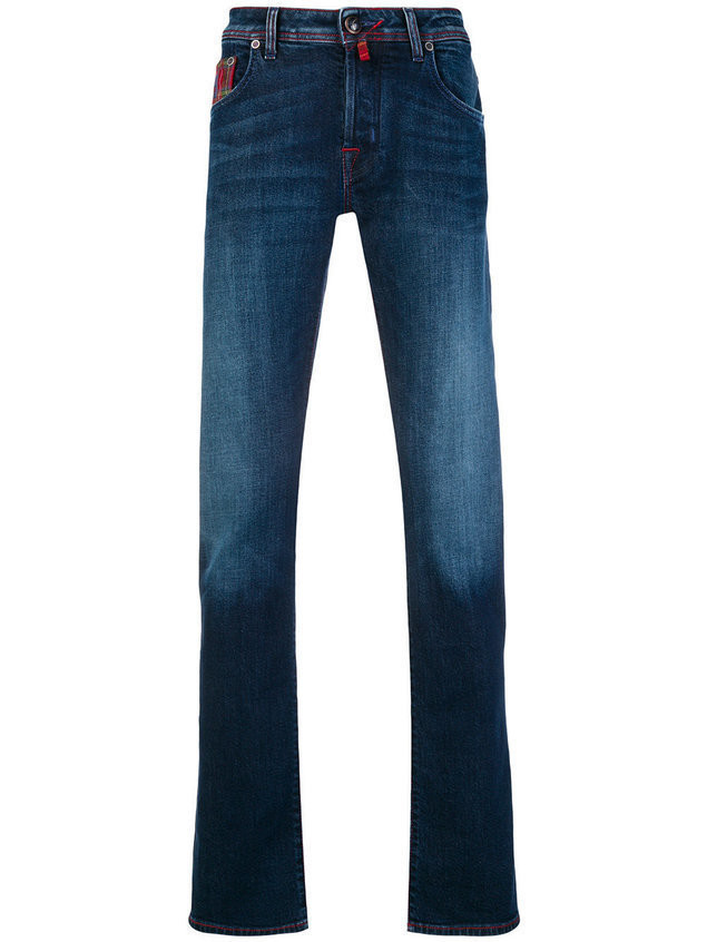 Jacob Cohen handkerchief straight-leg jeans - Blue