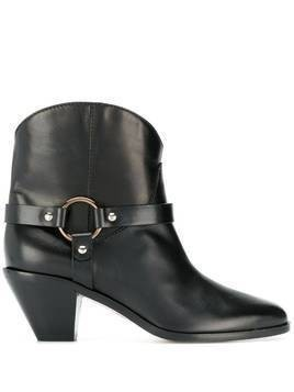 Francesco Russo buckle detail boots - Black