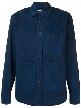 Aspesi front pockets shirt - Blue