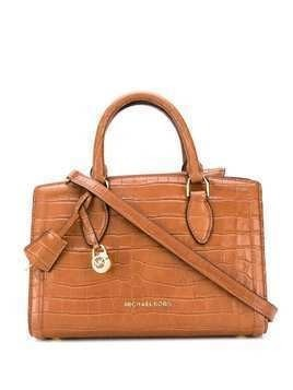 Michael Michael Kors Zoe croc-effect satchel - Brown