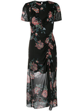 Pinko floral print flared dress - Black